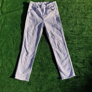 7 for All Mankind White Crop Jeans
